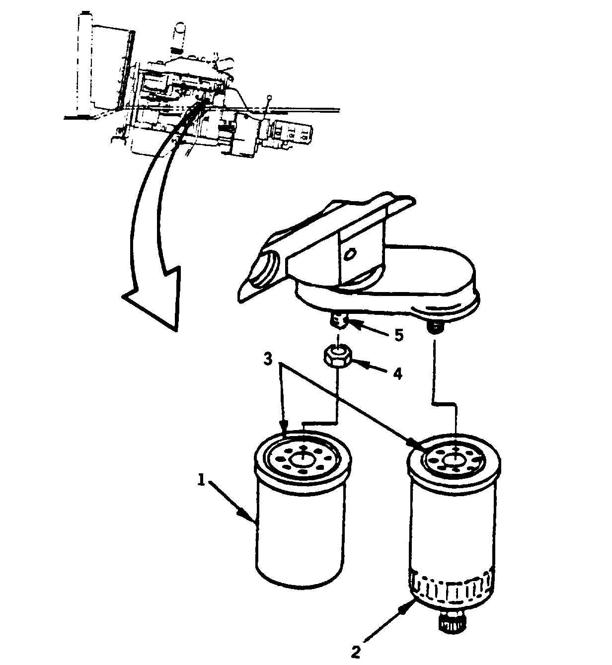 in line diesel fuel filter water separator