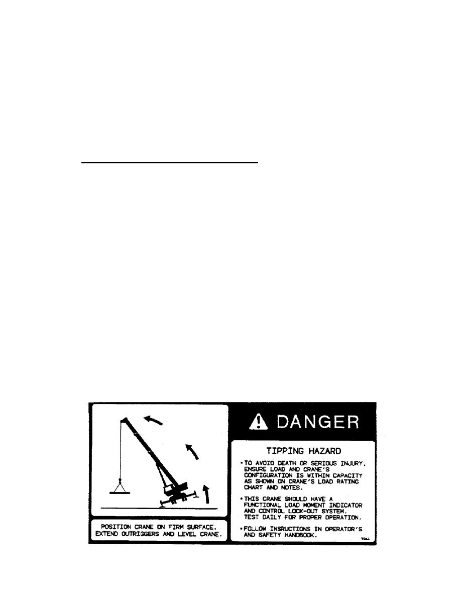 CRANE STABILITY/STRUCTURAL STRENGTH.