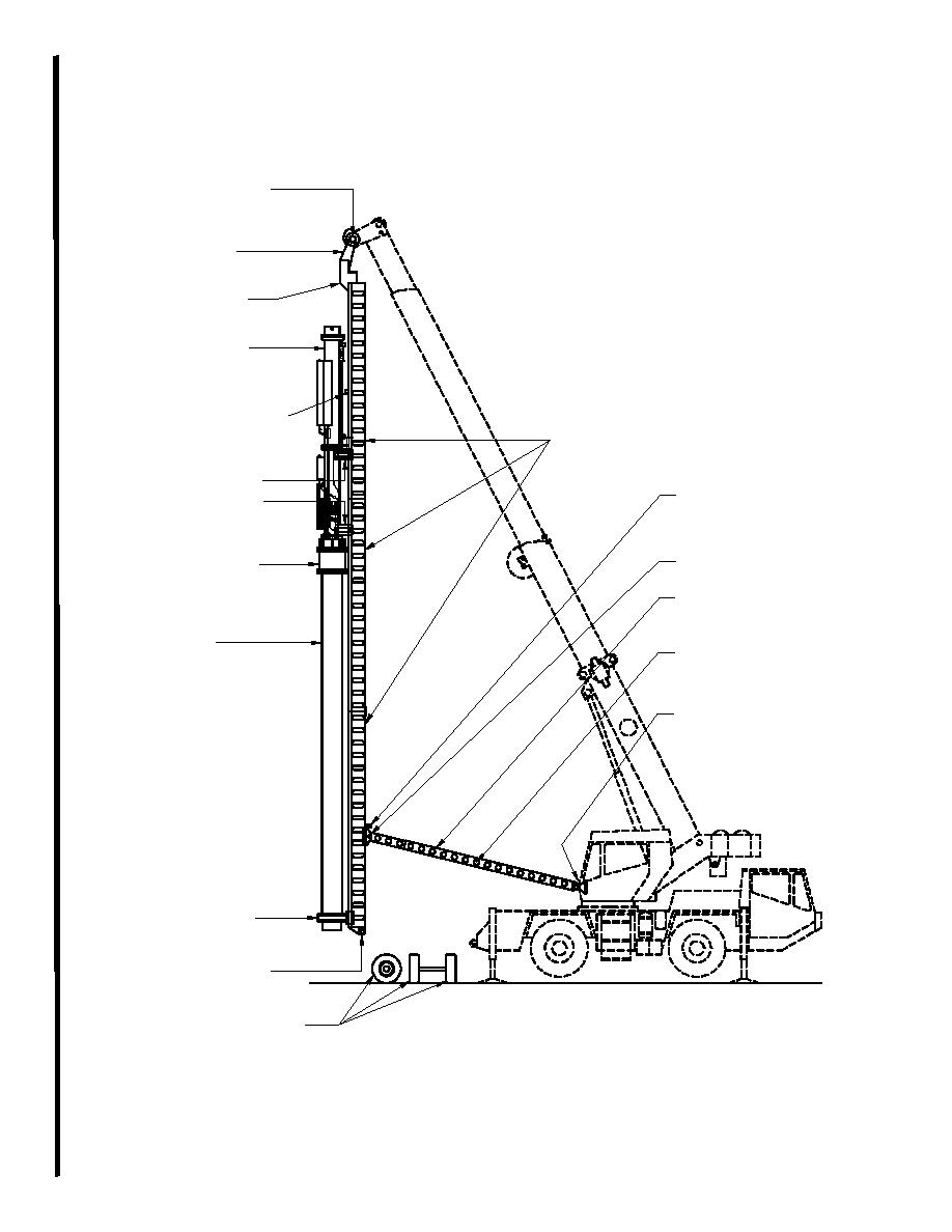 Figure H-1. Crane, Lead Tower, Spotter, and Impact Hammer