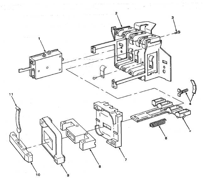 FIGURE 107. MAGNETIC STARTER COMPONENT PARTS