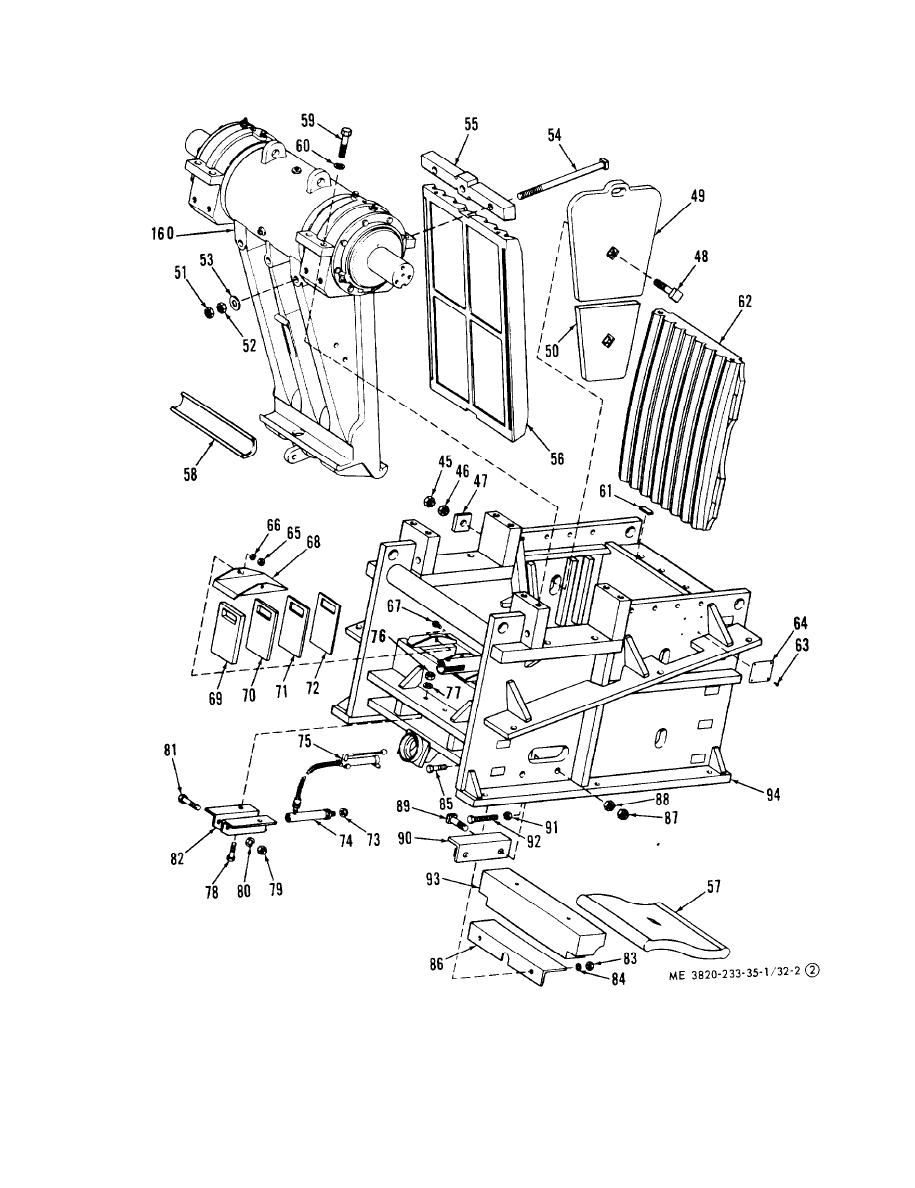 Figure 32-2 (1). 1524 Jaw crusher, exploded view. (Cont