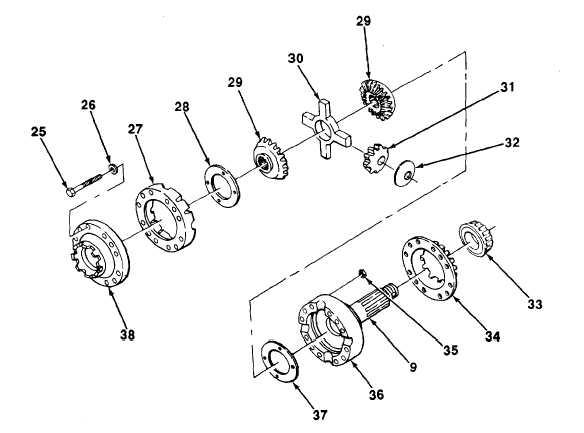 INTERAXLE DIFFERENTIAL ASSEMBLY AND HOUSING DISASSEMBLY