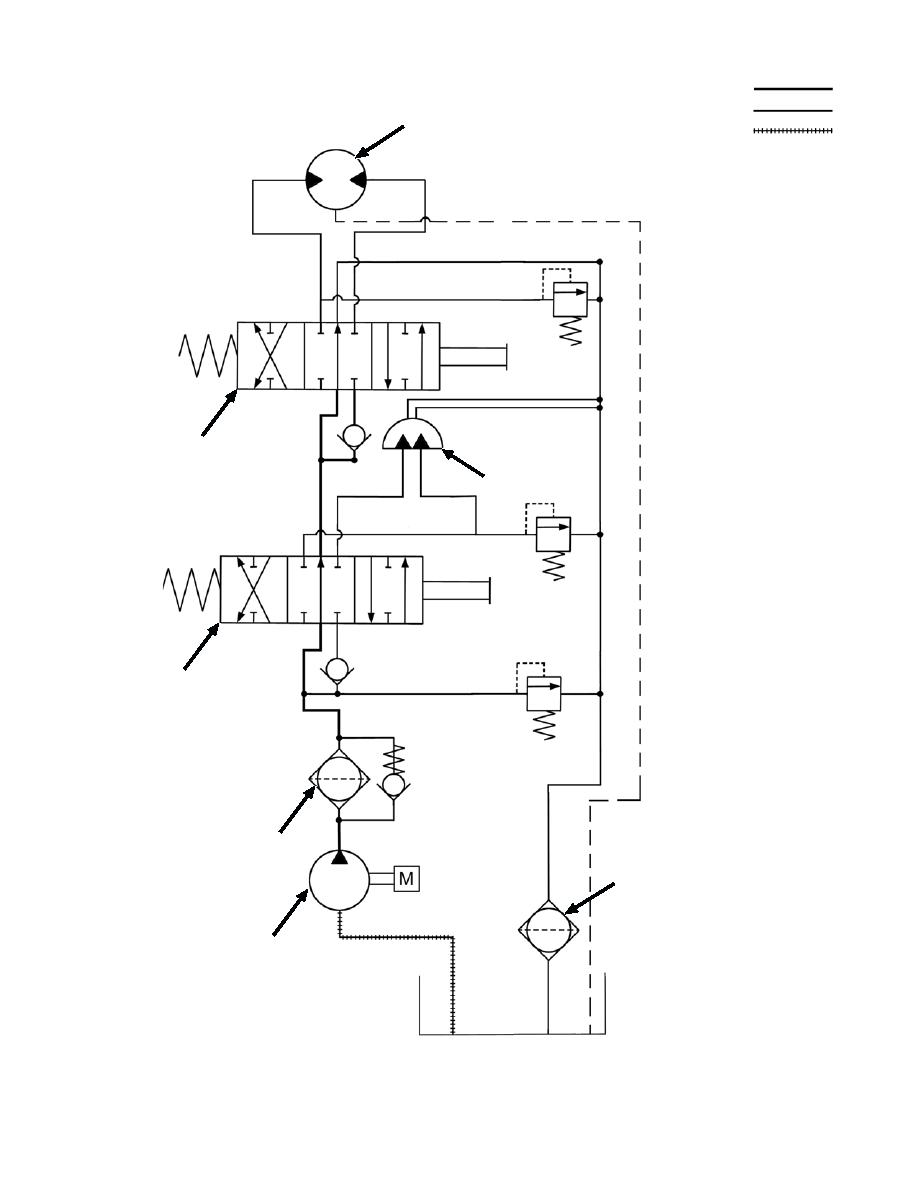 OUTBOARD HYDRAULIC VALVE BANK SCHEMATIC