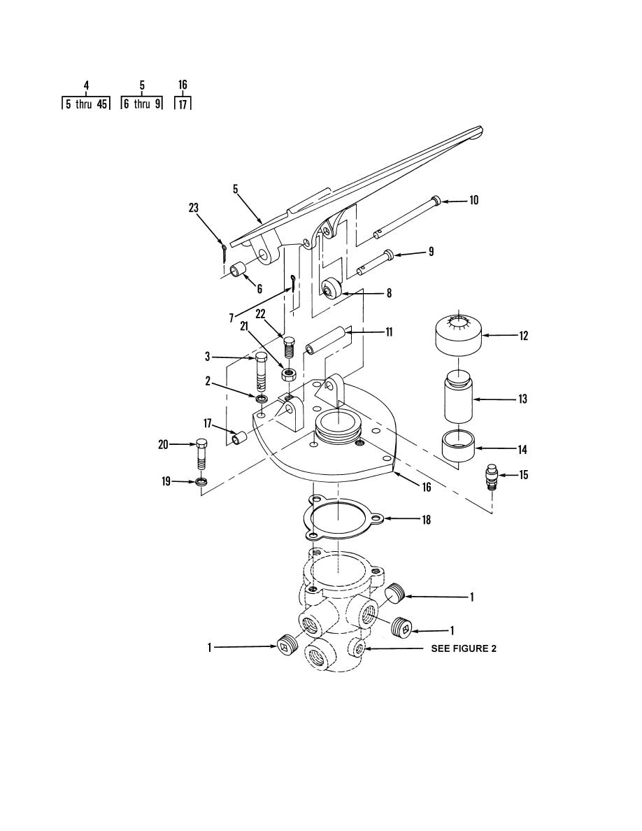 Figure 136. Air Brake Treadle Valve Assembly and Mounting