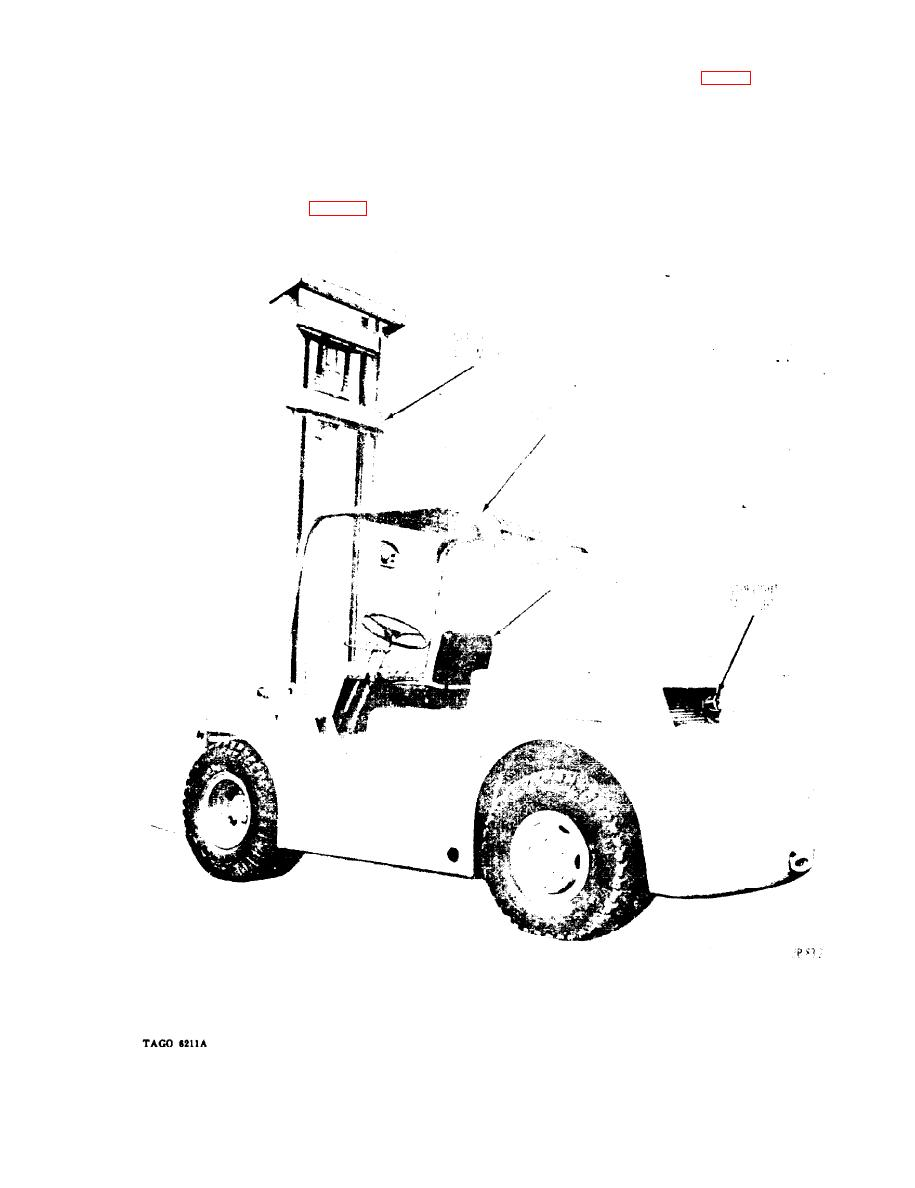 Figure 2. Hyster model Hl50C for&lift truck, left rear view.