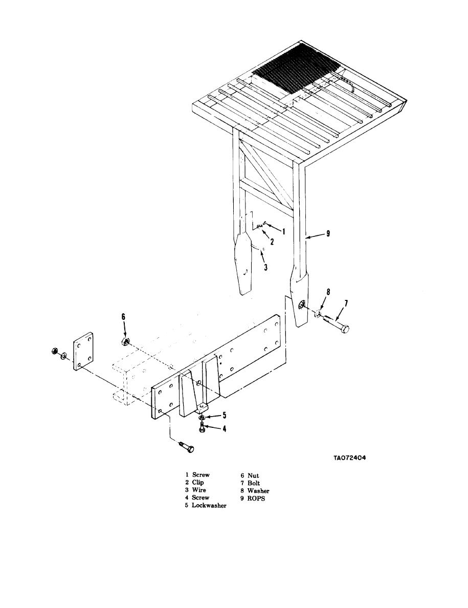 Figure 4-42. Roll overprotective structure (ROPS), removal