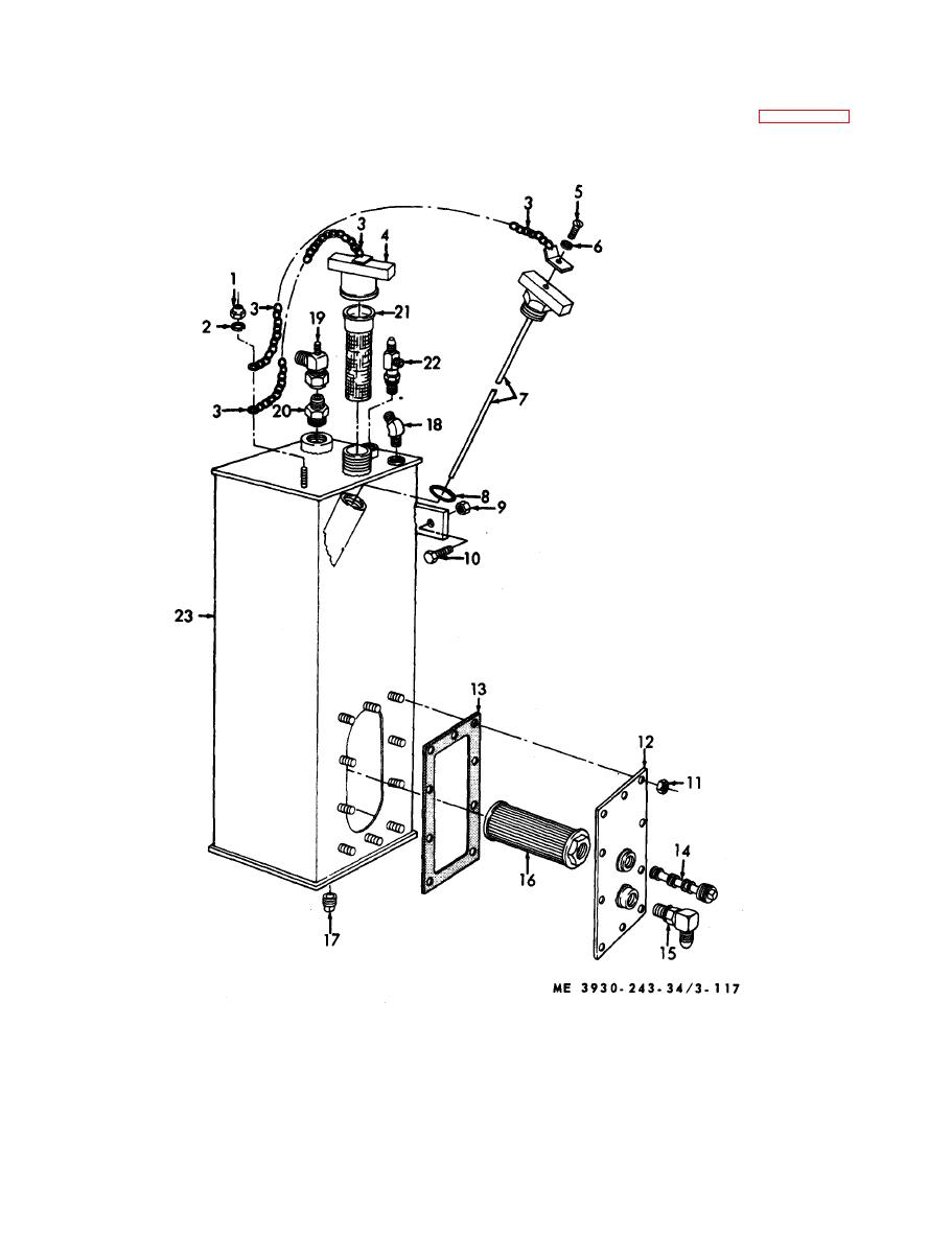 Figure 3-117. Hydraulic brake reservoir, disassembly and