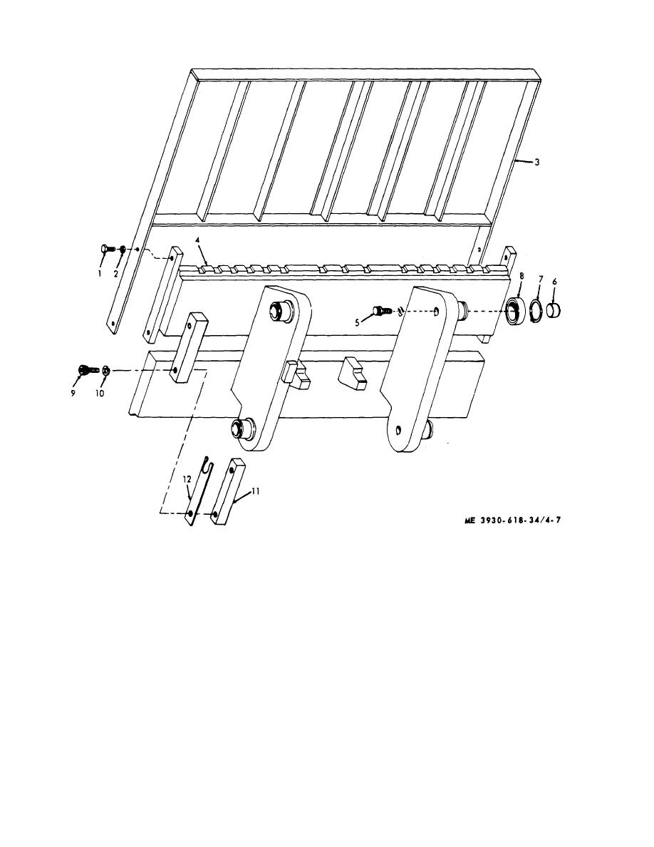Figure 4-7. Hydraulic lift carriage and backrest.