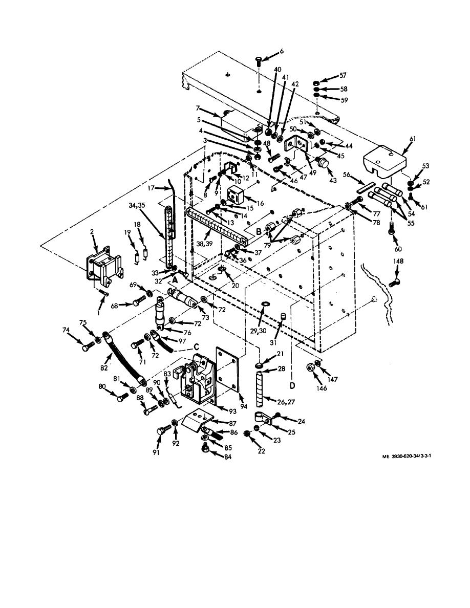 Figure 3-3. Contactor unit, exploded view. (Sheet 1 of 2)
