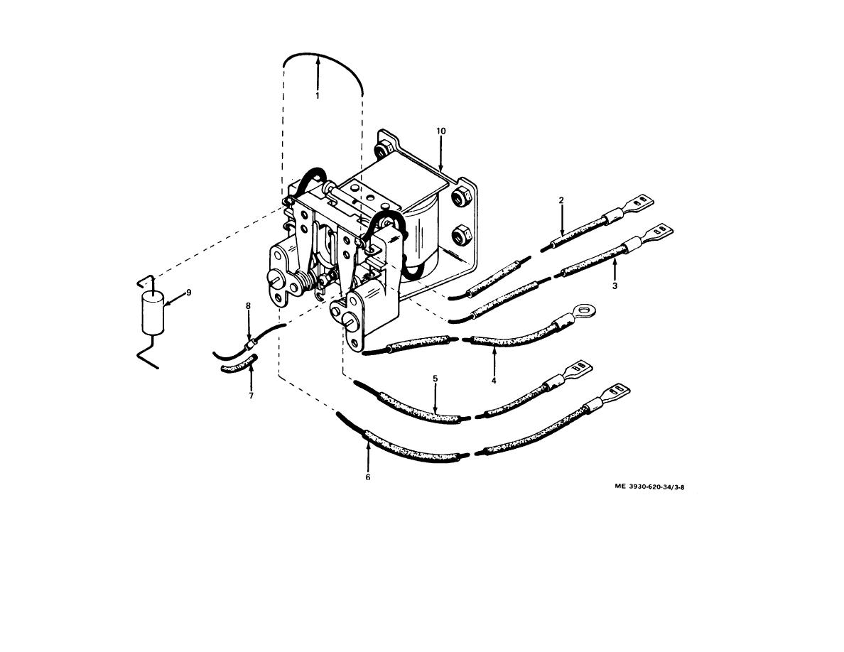 Figure 3-8. Control relay assembly. exploded view.