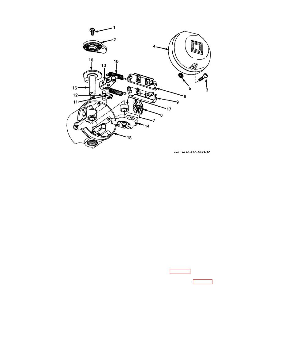 Figure 3-20. Directional control switch. exploded view