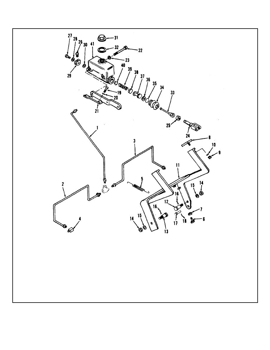 Figure 6-6. Hydraulic Brake Master Cylinder and Pedal