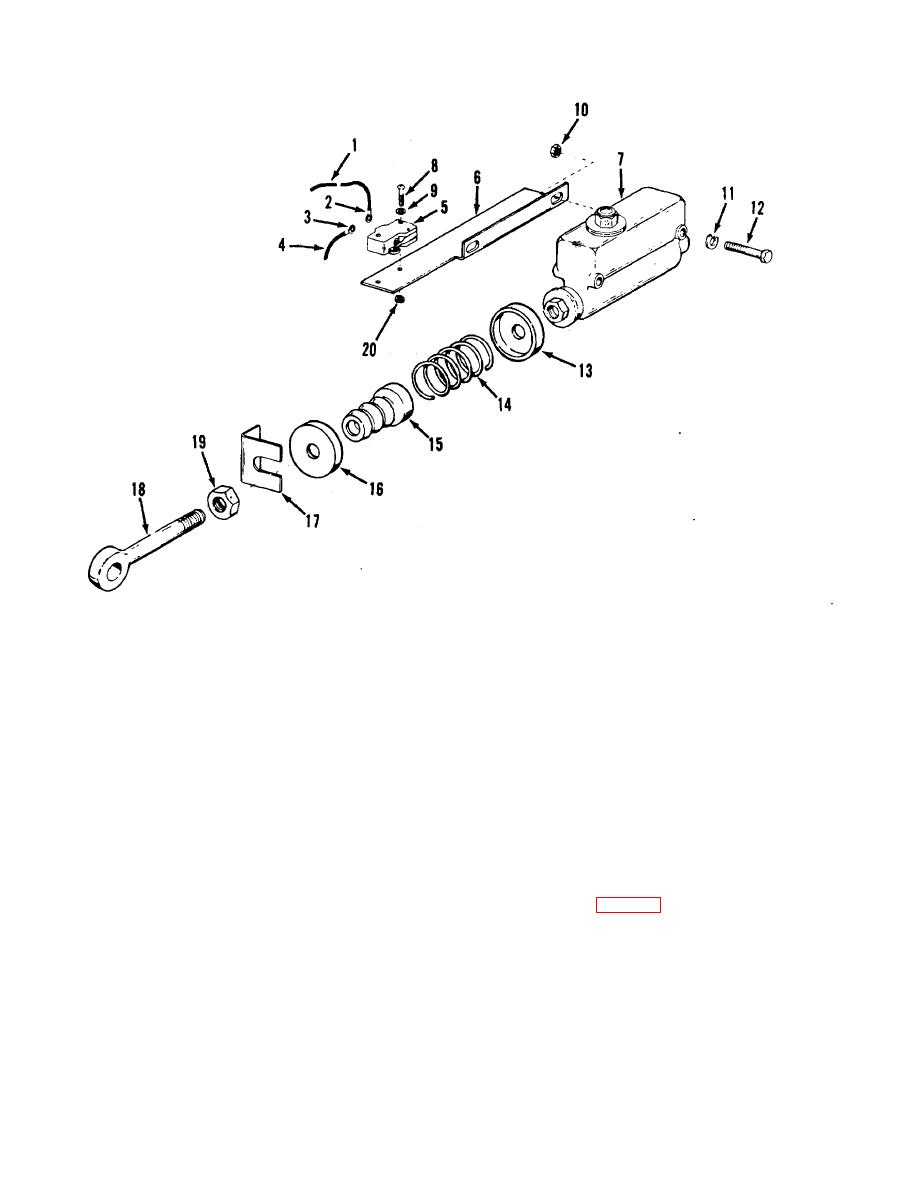 Figure 4-17. Service brake master cylinder, exploded view