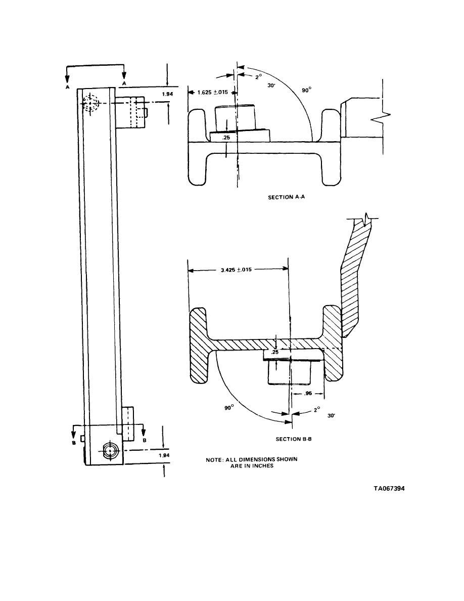 Figure 3-12. Mast stud bearing locations.