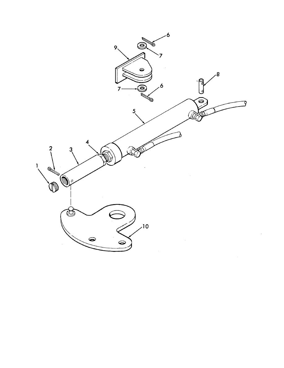 Figure 4-29. Steering cylinder and drag link, exploded view.