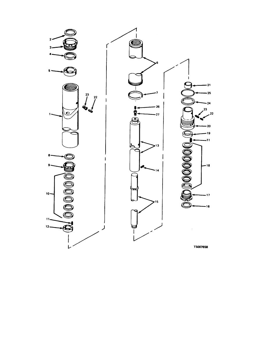 Figure 4-1. Lift Cylinder, Exploded View.