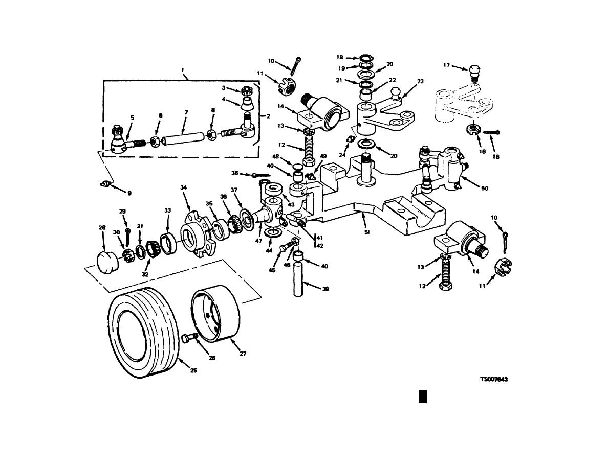 Figure 13 1 1 Rear Steering Axle Assembly Exploded View