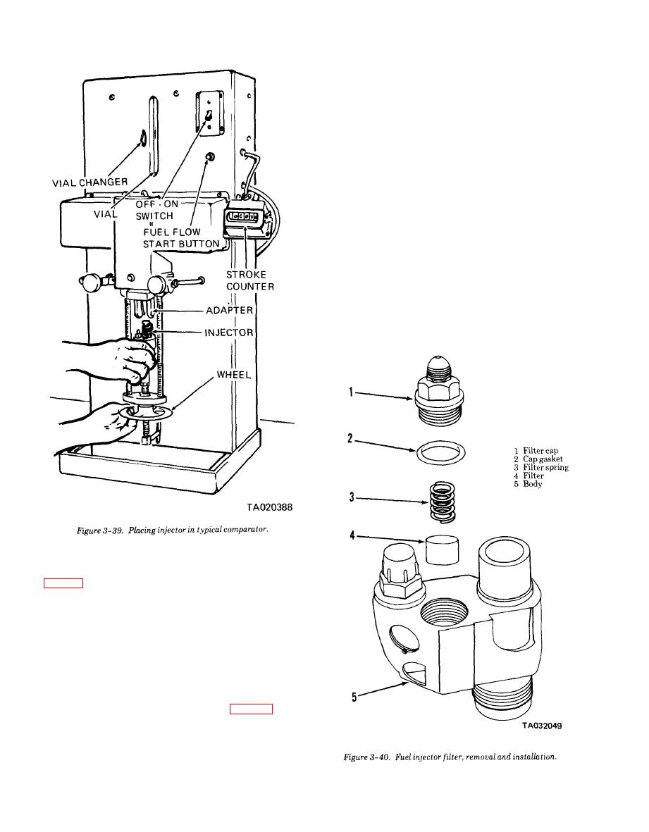 Figure 3-39. Placing injector in typical comparator