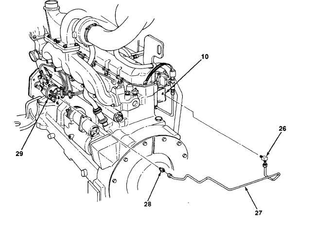 FUEL FILTER HOUSING-TO-FUEL INJECTION PUMP FUEL LINE AND