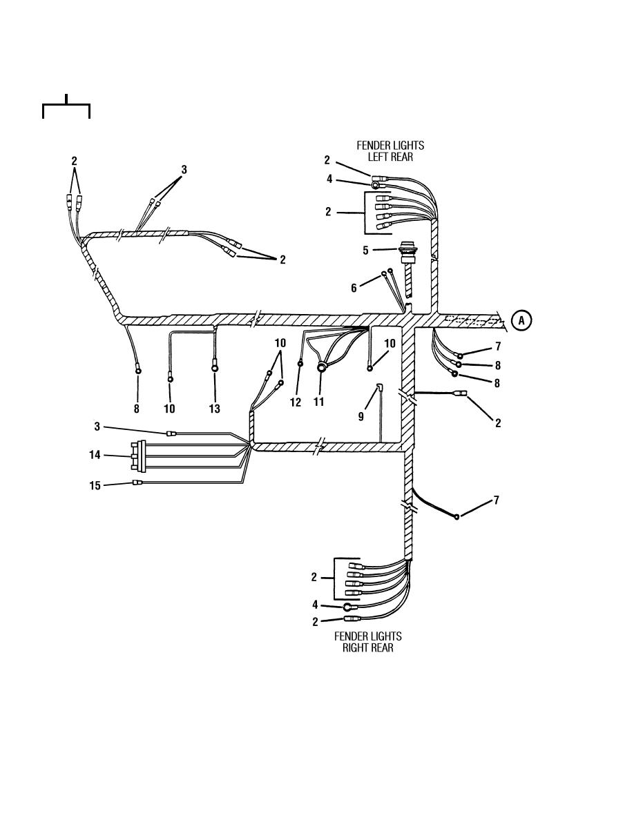 Figure 72. Main Wiring Harness (Sheet 1 of 2)