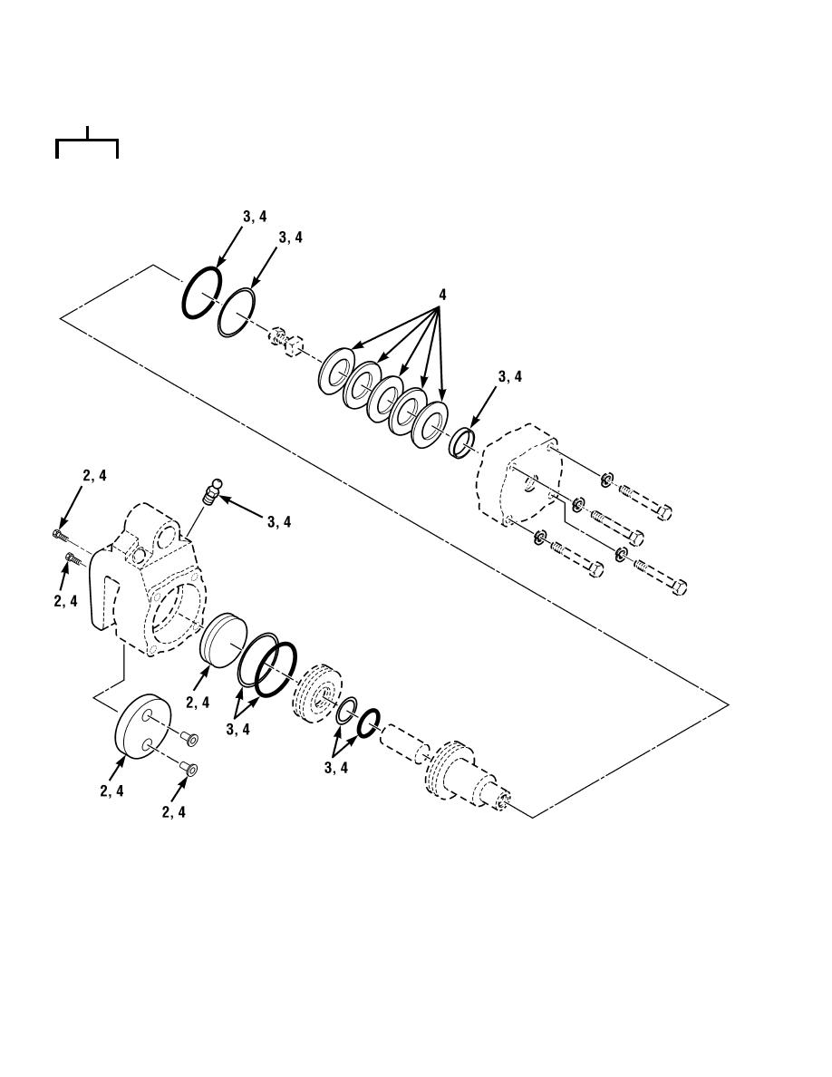 Figure 111. Parking Brake Caliper Assembly