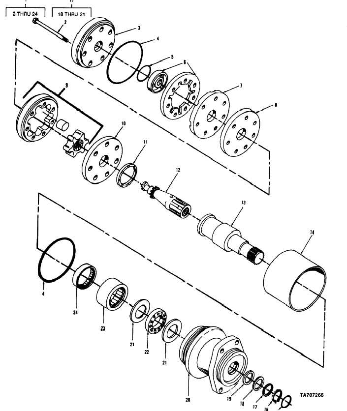 FIGURE 244. CIRCLE DRIVE HYDRAULIC PUMP MOTOR ASSEMBLY