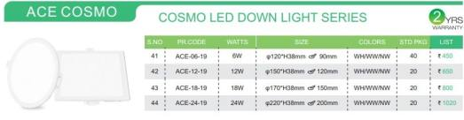 ACE COSMO PRICE LIST