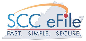 English: Logo of the SCC eFile website. Taglin...