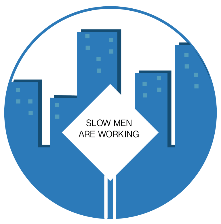 Slow Men Working icon | Construction Lawyer Melbourne