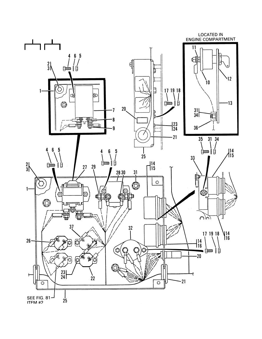 Figure 72. Instrument Panel Wiring and Control Devices