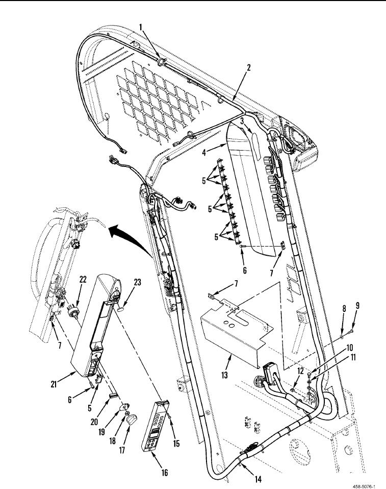 Figure 71. Cab Electrical Harness and Related Parts (Sheet