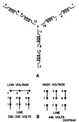 12 lead motor wiring diagram msd 6al 6420 dual-voltage wye
