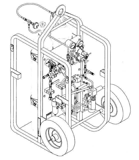 Figure 1-1. Hand Truck (High Pressure Nitrogen Servicing Cart)