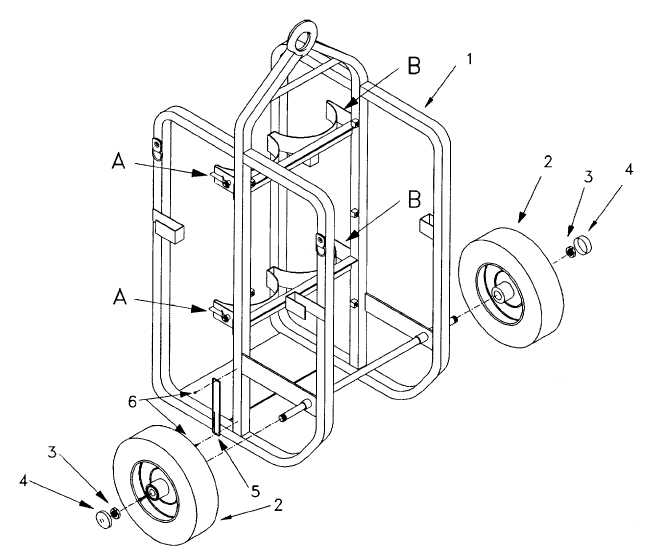 Figure C-7. HAND TRUCK ASSEMBLY (CA033) (1 of 2)