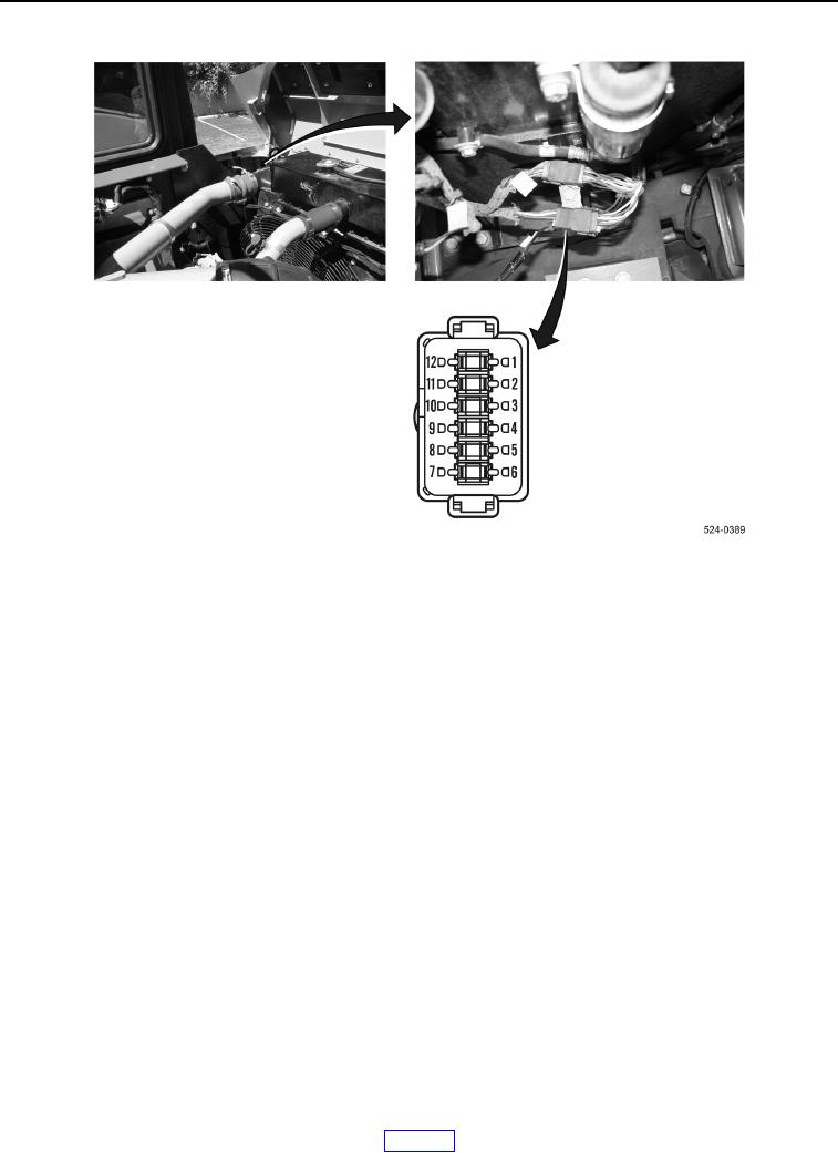 Figure 190. L-C1 Hood Wiring Harness Connector.
