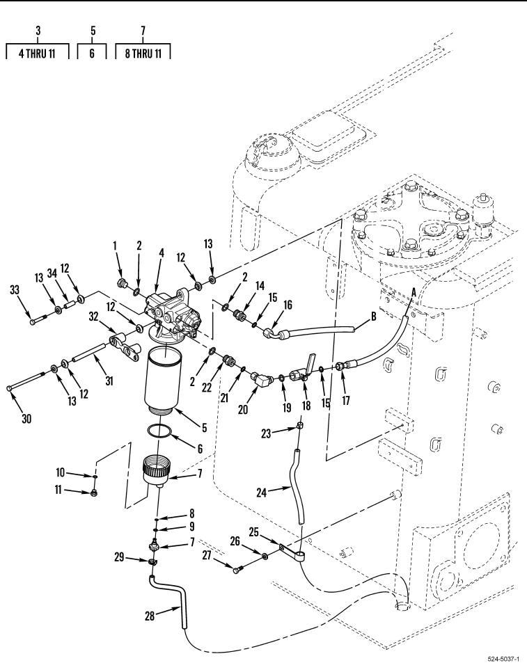 Figure 39.?Primary Fuel Filter, Base, Priming Pump, Water