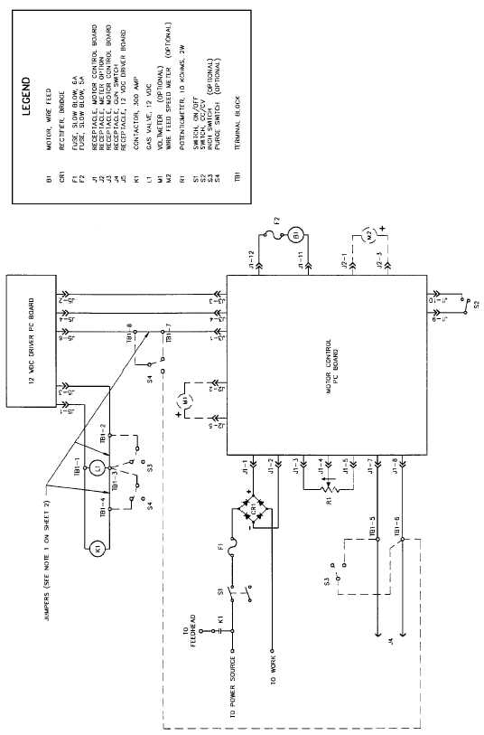 Figure 2-11. Wire Feeder Welder Schematic (Sheet 1 of 2).