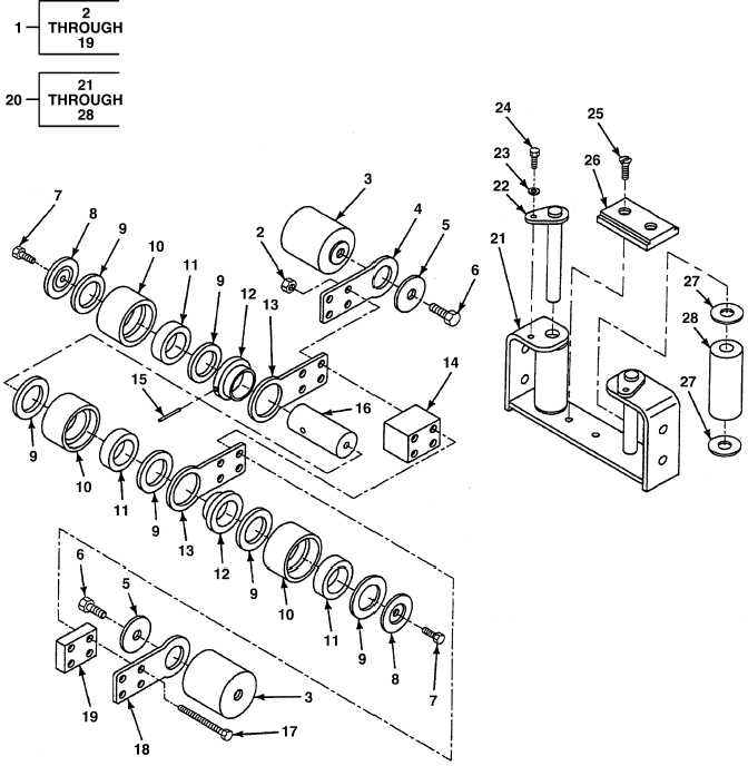 FIG. 47 HOIST CABLE FOLLOWER AND GUIDE (1 OF 2)