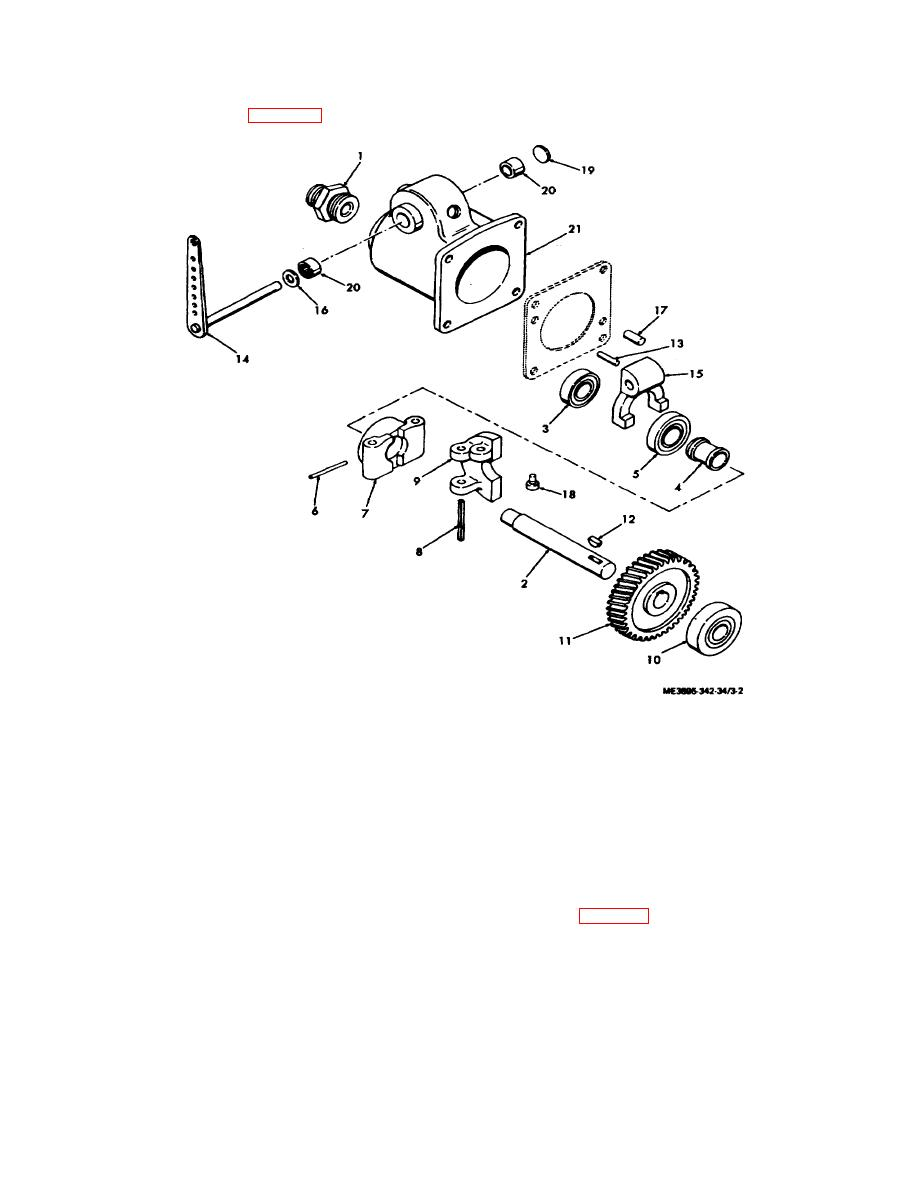 Figure 3-2. Governor, exploded view.