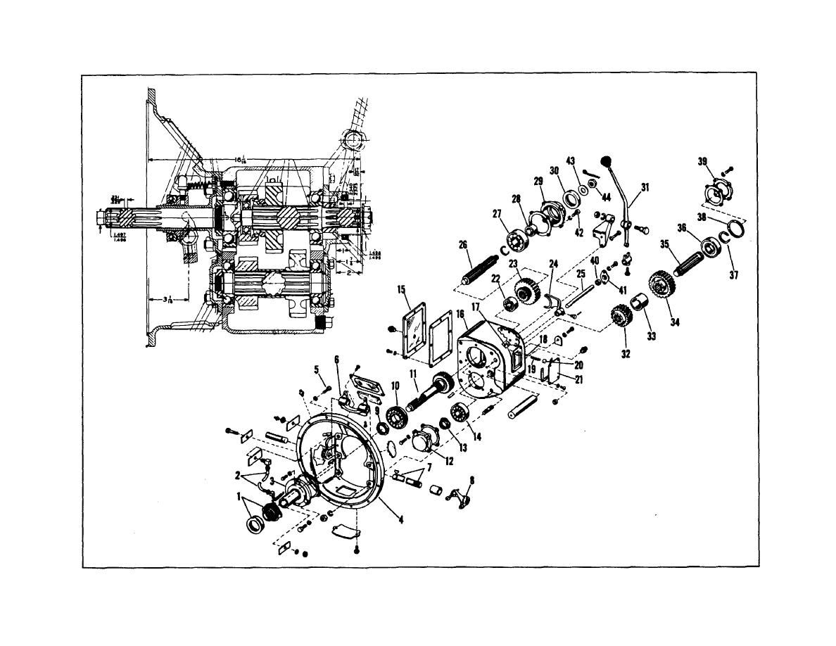 Figure 8. Sectional and Exploded View of Rotor Drive