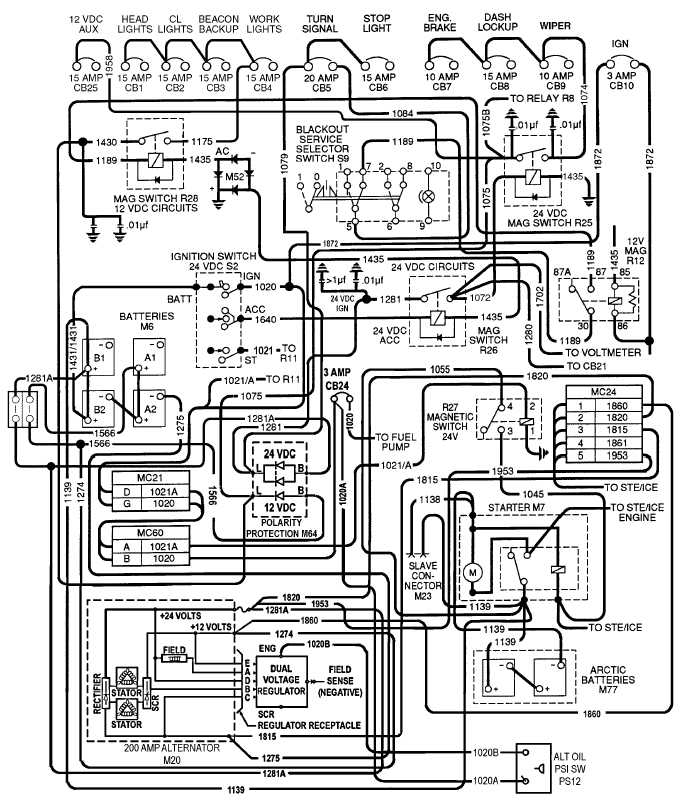 Figure 2-24. 12 vdc Circuit Wiring Schematic (200 AMP With