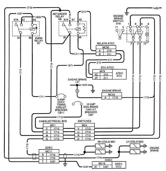 Figure 2-38. Engine Brake Wiring Schematic