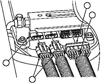 Engine wiring harness connector