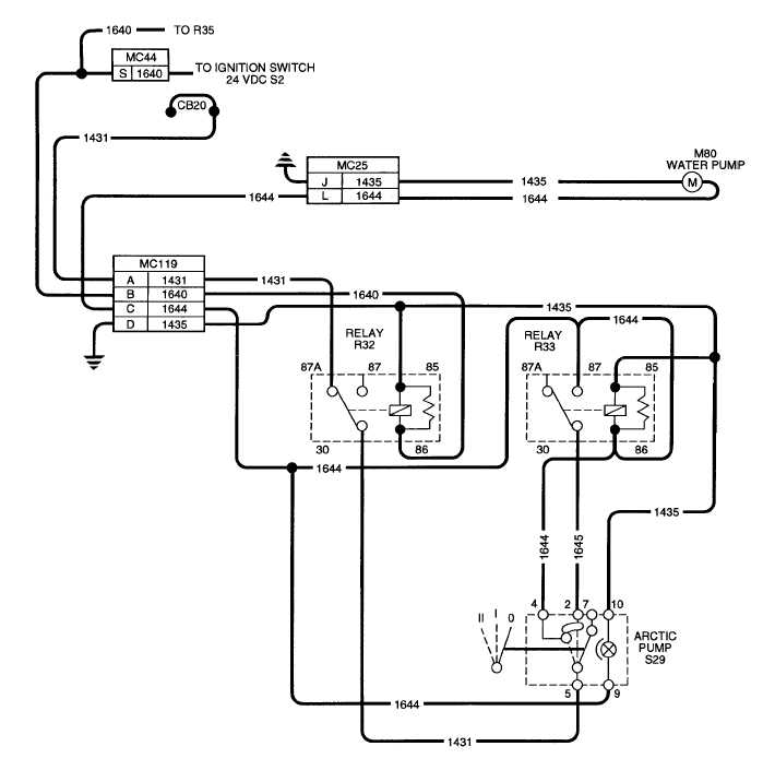 Figure 2-74. Arctic Kit Water Pump Electrical Schematic