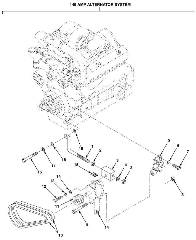 FIG. 57 ALTERNATOR BELTS AND MOUNTING (PAGE 1 OF 2)
