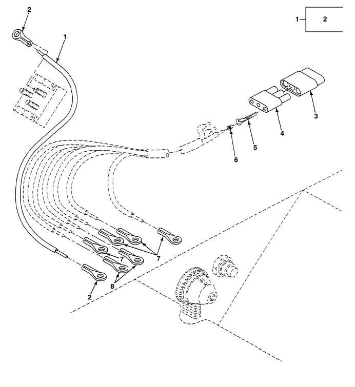 FIG. 136 CAB WIRING HARNESS STARTER SWITCH CONNECTORS AND