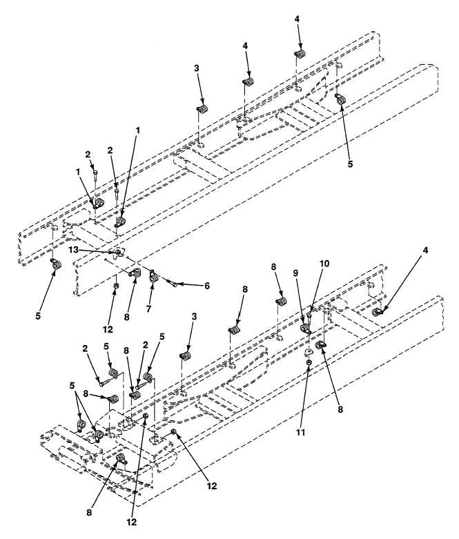 FIG. 145 CHASSIS ELECTRIC HARNESS CLAMPS