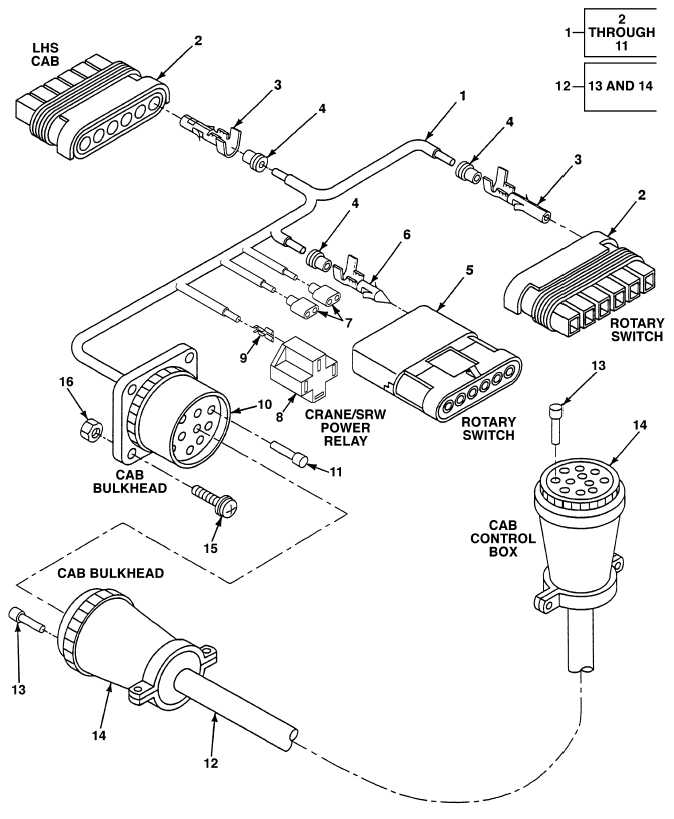 FIG. 156 LHS CAB WIRING HARNESS