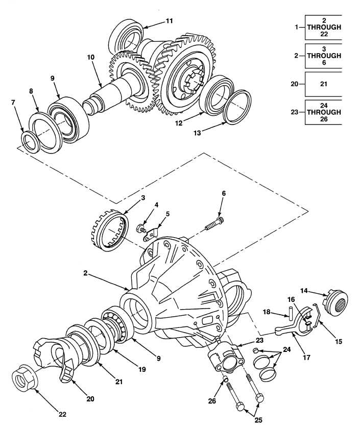 FIG. 214 NO. 5 AXLE DIFFERENTIAL ASSEMBLY, FLANGE
