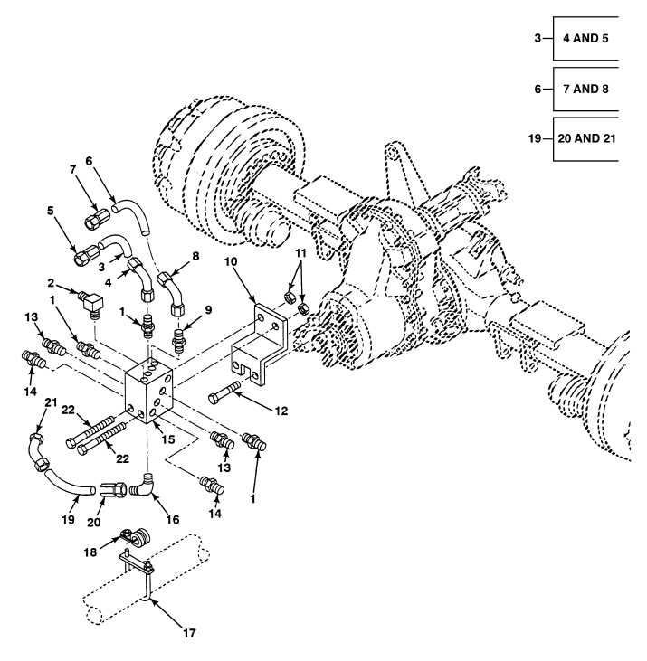 FIG. 228 NO. 3 AXLE AIR MANIFOLD AND FITTINGS